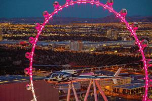 Las Vegas Strip Night Flight by Helicopter
