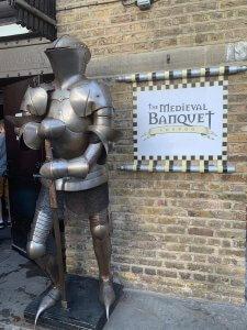 Medieval Banquet London entrance