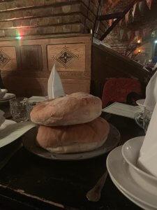Medieval Banquet London, bread anyone