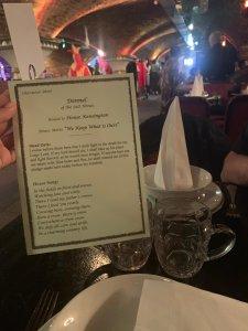 Medieval Banquet London sacred scriptures
