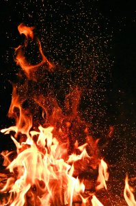 New Year's Traditions competition bonfire