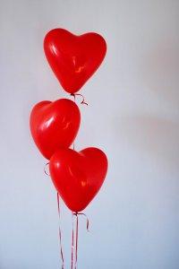Heart balloons love re